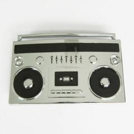 boucle de ceinture poste radio cassette boom box noir chrome. Black Bedroom Furniture Sets. Home Design Ideas
