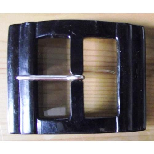 Boucle De Ceinture Vintage En Plastique De Couleur Noire Rectangulaire  6x5cm. ff1bfcf6e0a