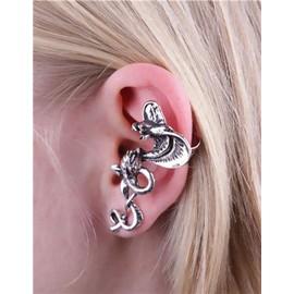 Boucles d 39 oreilles tour d 39 oreille bijou fantaisie m tal serpent cobra mode fashion style - Poussette de boucle d oreille ...