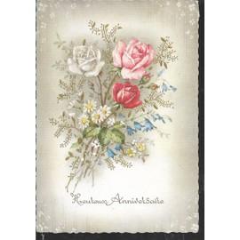 Bouquet De Fleurs Joyeux Anniversaire Achat Et Vente Rakuten
