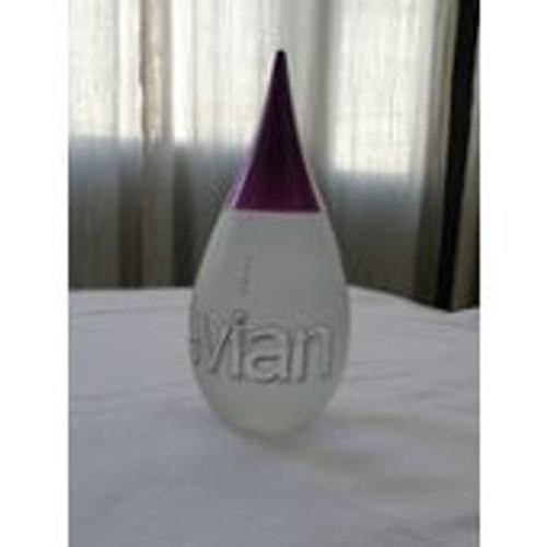 bouteille verre goutte d 39 eau de collection evian 2003 neuve et pleine. Black Bedroom Furniture Sets. Home Design Ideas