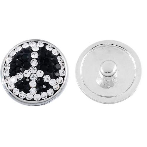 bouton pression strass signe paix peace and love pour bracelet et bijou pression personnalis. Black Bedroom Furniture Sets. Home Design Ideas