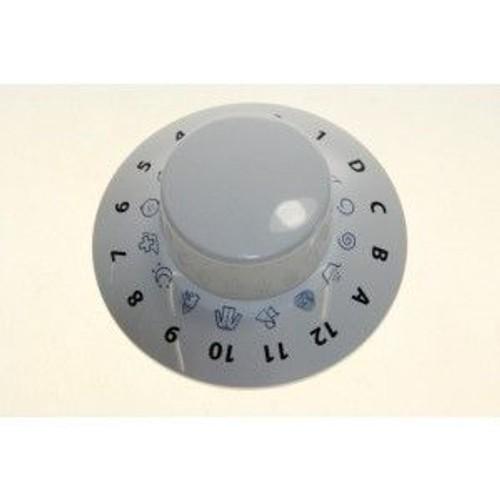 bouton programmateur blanc pour lave linge indesit c00267555 arxxf145eu