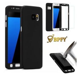 BPFY¿ - MEILLEUR PRIX - S7 edge - Etui Coque Housse 360¡ NOIR FULL PROTECTION Anti Chocs pour Samsung S7 edge