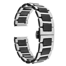Bracelet Céramique Acier Inoxydable 22mm pour Samsung Gear S3 Classic  Frontier \u2026