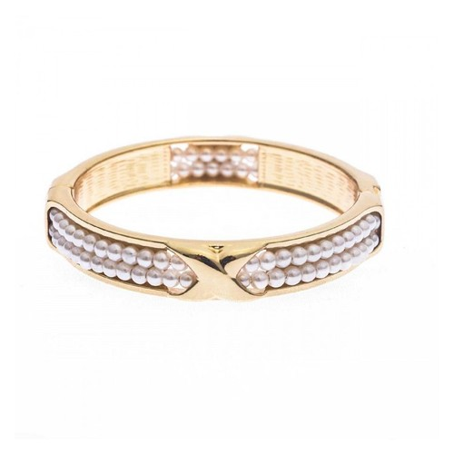 bracelet clip perles tiss es achat vente de bijou priceminister rakuten. Black Bedroom Furniture Sets. Home Design Ideas