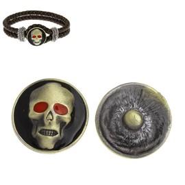 bouton pression pour bracelet en cuir