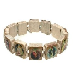 Bracelet or vierge marie