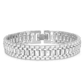 9edefa0fe79 Bracelet Gourmette-Platine Or Jaune Métal Noir Plaqué-19cm De Long-Bijoux  Pour Homme Femme