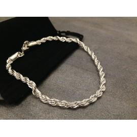 Bracelet torsade argent homme