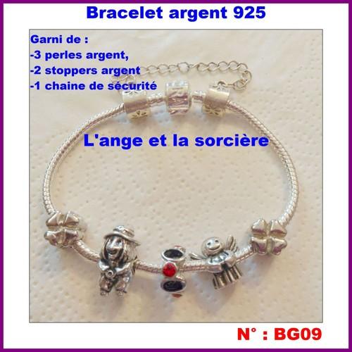 Poinçon Serpent Bracelet Et Maille Bg09 Argent La Sorcière L'ange 925 Autre e9I2EDHWY
