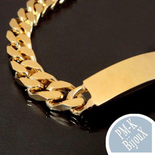 bracelet pour homme tr s l gant 23cm 10mm classique. Black Bedroom Furniture Sets. Home Design Ideas