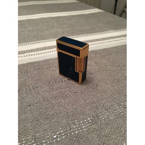 briquet dupont r glable laqu de chine bleu neuf et d. Black Bedroom Furniture Sets. Home Design Ideas