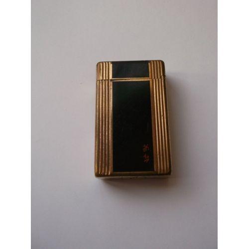briquet s t dupont laque de chine plaque or neuf et d. Black Bedroom Furniture Sets. Home Design Ideas