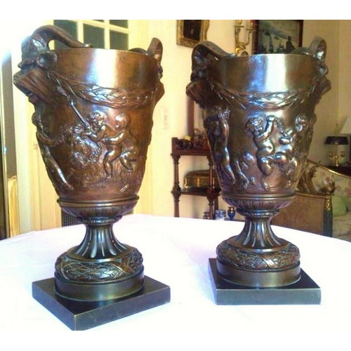 bronze ancien xix si cle vases napol on iii achat et vente. Black Bedroom Furniture Sets. Home Design Ideas