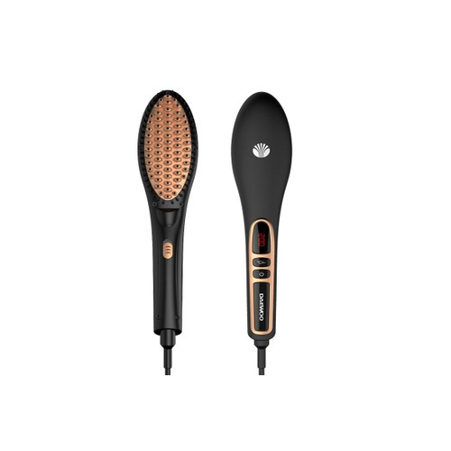 brosse lissante ionique c ramique daewoo dbrush 100 noire et or bronze cran lcd. Black Bedroom Furniture Sets. Home Design Ideas