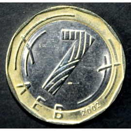 bulgarie 2002 pi ce de 1 lev bicolore rare achat et vente. Black Bedroom Furniture Sets. Home Design Ideas