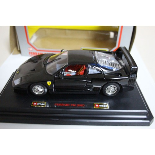 burago 1 24 ferrari f40 1987 achat vente de jouet rakuten. Black Bedroom Furniture Sets. Home Design Ideas