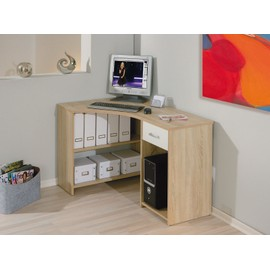 bureau d angle caprera table informatique meuble de coin avec tag re tiroir dim 1180x750x790. Black Bedroom Furniture Sets. Home Design Ideas