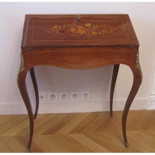 bureau de pente louis xv achat vente de mobilier rakuten. Black Bedroom Furniture Sets. Home Design Ideas