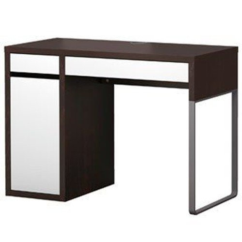 bureau ikea micke noir et blanc pas cher achat vente priceminister. Black Bedroom Furniture Sets. Home Design Ideas