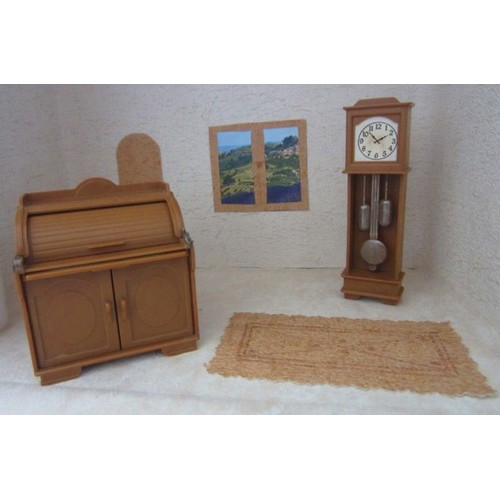bureau secr taire et horloge pour maison de poup e achat et vente. Black Bedroom Furniture Sets. Home Design Ideas
