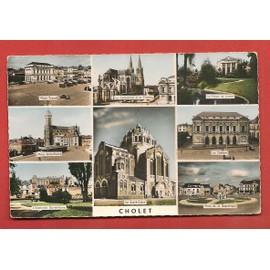 C.P. S.M. & Cholet (Maine-Et-Loire) - Place Travot, La Cath�drale Et Le Th��tre, Le Palais De Justice, Le Sacr�-Coeur, L'institution Sainte-Marie, Place St-Pierre Et De La R�publique
