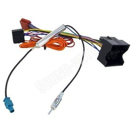 connecteur iso opel corsa combo meriva cable adaptateur autoradio avec connecteur antenne. Black Bedroom Furniture Sets. Home Design Ideas