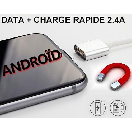 cable chargeur rapide data magn tique pour smartphone. Black Bedroom Furniture Sets. Home Design Ideas