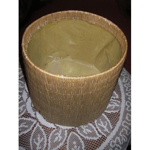 Cache Pot En Macrame De Couleur Beige Support Carton Rigide Double