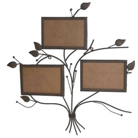 cadre photo album photo mural en fer marron fa on arbre. Black Bedroom Furniture Sets. Home Design Ideas