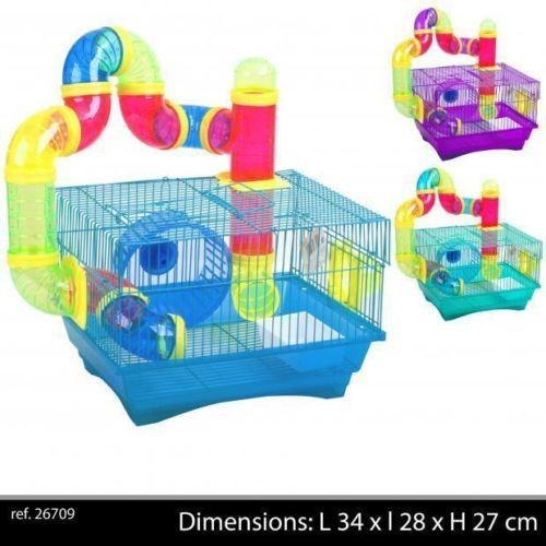cage a hamster souris ou animaux rongeur avec tube circuit. Black Bedroom Furniture Sets. Home Design Ideas
