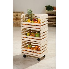 cageots fruits sur roulettes caisses empilables en bois massif fruits l gumes dim 300x800x370. Black Bedroom Furniture Sets. Home Design Ideas
