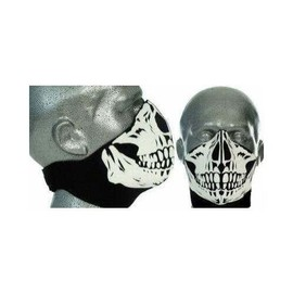 cagoule masque tour de cou neoprene t te de mort skull airsoft moto paintball. Black Bedroom Furniture Sets. Home Design Ideas