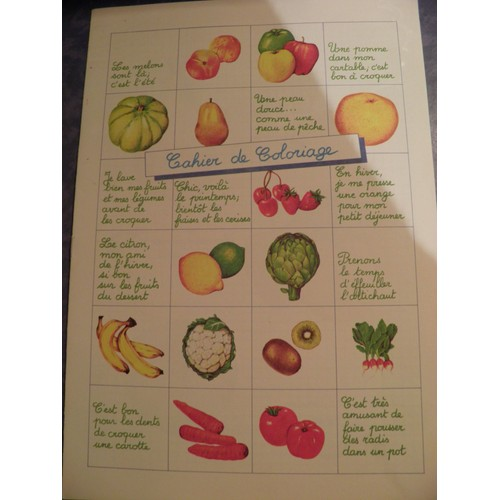 Cahier Coloriage Fruits.Cahier De Coloriage Fruits Et Legumes De Collectif Rakuten