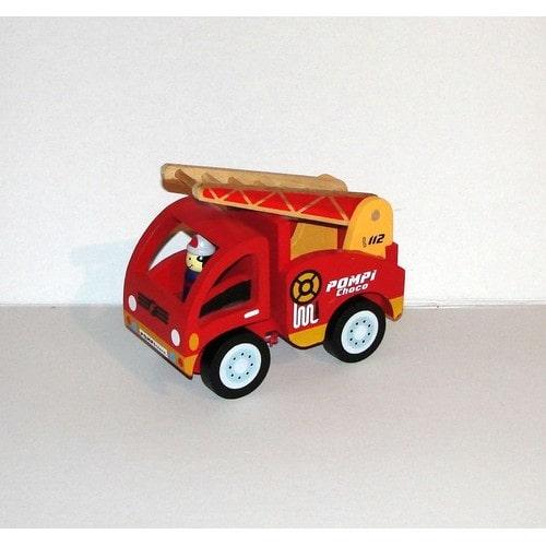 camion de pompier articul jouet en bois fizzy pompi. Black Bedroom Furniture Sets. Home Design Ideas