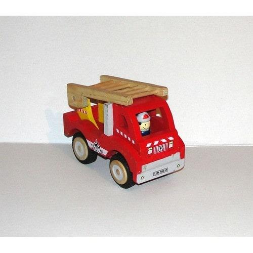camion de pompier jouet en bois fizzy pompi achat et vente. Black Bedroom Furniture Sets. Home Design Ideas