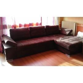 Canap d 39 angle forester marron avec coffre lit achat - Canape lit avec coffre ...