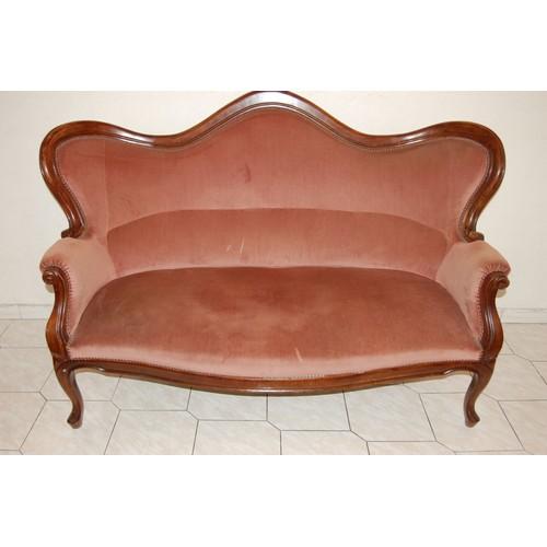 canap louis philippe 3 places velours rose excellent tat rakuten. Black Bedroom Furniture Sets. Home Design Ideas