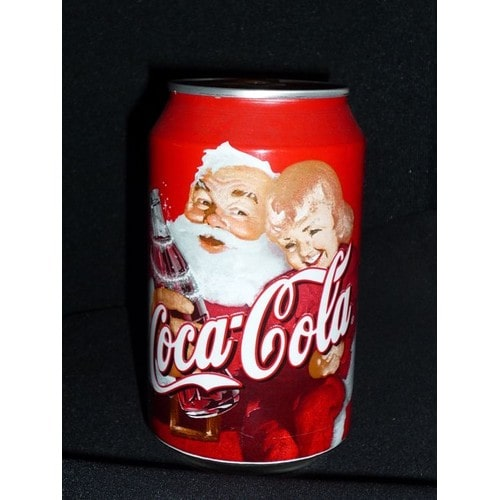 canette de coca cola boisson alimentaire coca cola p re no l christmas nouvel an 2000 france. Black Bedroom Furniture Sets. Home Design Ideas