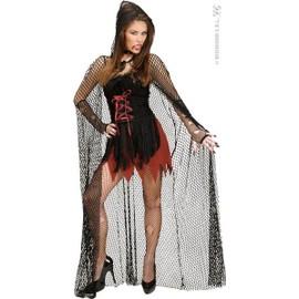 cape autre femme vampire avec cette cape filet avec capuche de 150 cm accessoires deguisement. Black Bedroom Furniture Sets. Home Design Ideas