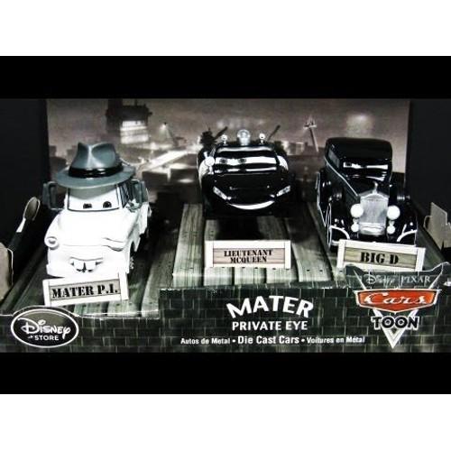 cars martin detective coffret collection 3 voitures 1 43 disney. Black Bedroom Furniture Sets. Home Design Ideas
