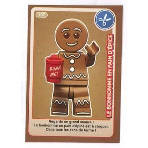 Carte A Collectionner Auchan Lego Le Bonhomme En Pain D Epice 107