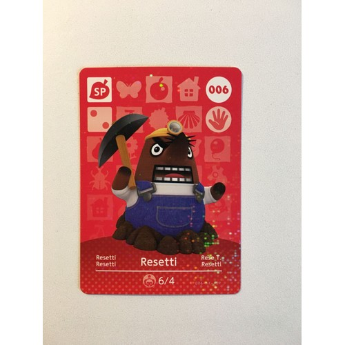 Carte Amiibo Animal Crossing Happy Home Designer