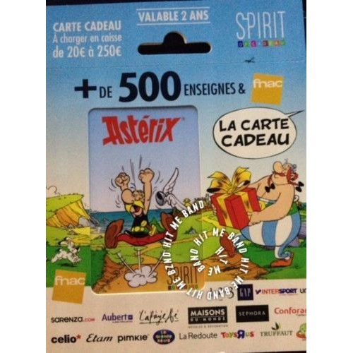 carte cadeau vide complete gift card fnac spirit ast rix ob lix uderzo rare collector. Black Bedroom Furniture Sets. Home Design Ideas