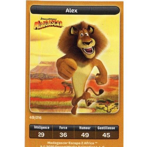 Carte Carrefour Dreamworks Madagascar 49 /216 Alex