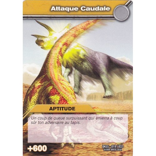 carte de dinosaure king attaque caudale aptitude - Jeux De Dinosaure King