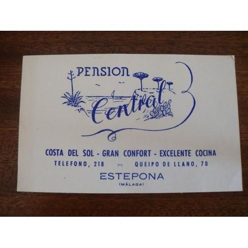 Carte De Visite 1950 Dune Pension Espagnole