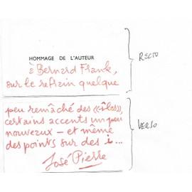 Carte De Visite Hommage Lauteur Jose Pierre1927 1999 EcrivainCritique Historien DartSurrealisme
