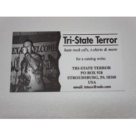 CARTE DE VISITE TRI STATE TERROR HATE ROCK CD USA